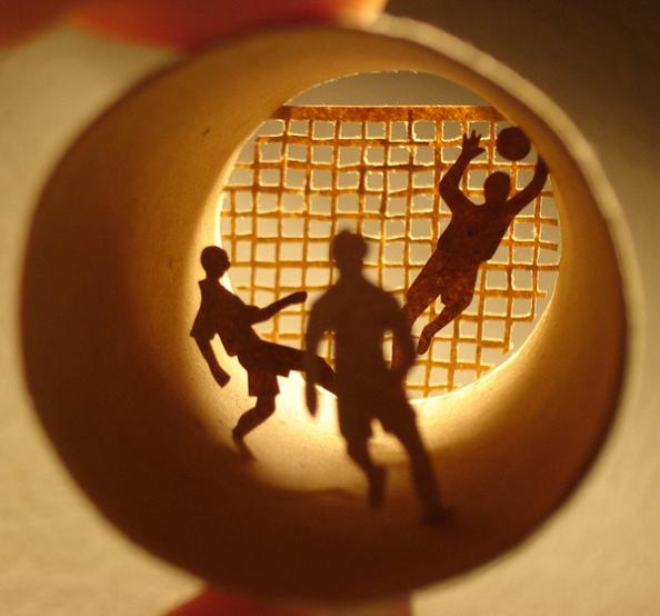 18 miniature scenes inside a roll Beautiful Miniature Paper Art Scenes [30 pics]