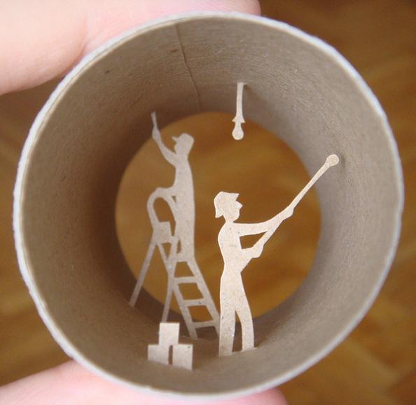 20 artist anastassia elias Beautiful Miniature Paper Art Scenes [30 pics]