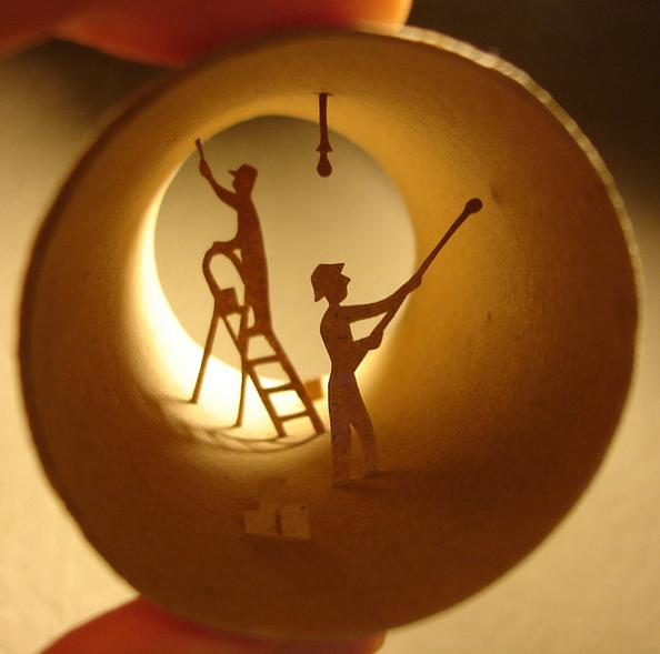 21 art of anastassia elias Beautiful Miniature Paper Art Scenes [30 pics]