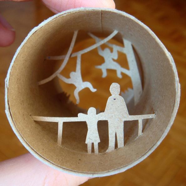 29 cardboard cuts art Beautiful Miniature Paper Art Scenes [30 pics]