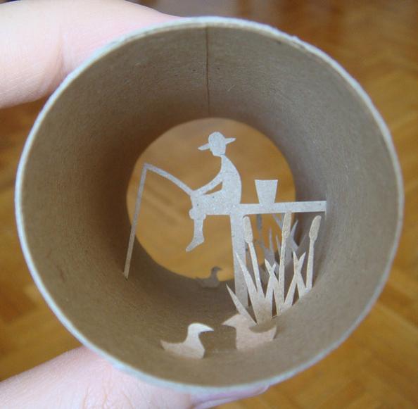 3 toilet paper roll art Beautiful Miniature Paper Art Scenes [30 pics]