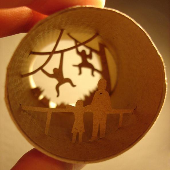 30 anastassia elias paper cuts series Beautiful Miniature Paper Art Scenes [30 pics]