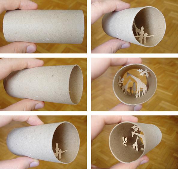 7 cardboard roll art Beautiful Miniature Paper Art Scenes [30 pics]