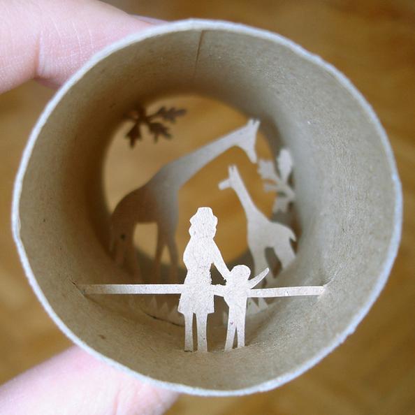 8 paper towel roll art Beautiful Miniature Paper Art Scenes [30 pics]