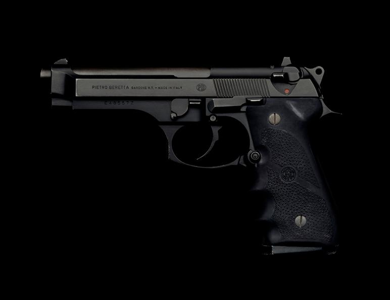 beretta m9 handgun on black guido mocafico Guns and Roses by Guido Mocafico