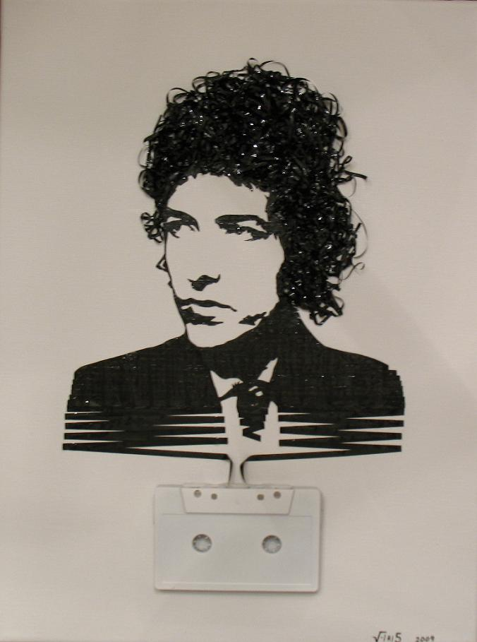 bob dylan tape art Unbelievable Tape Art by Erika Iris Simmons [15 Pics]