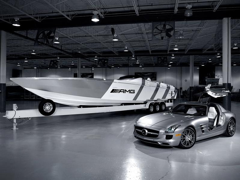 $1.2 Million 1,350 HP Mercedes-Benz SLS AMG Cigarette Boat