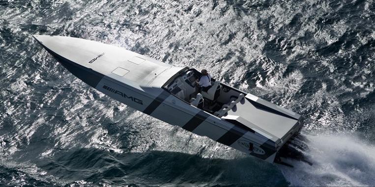 cigarette boat sls amg $1.2 Million 1,350 HP Mercedes Benz SLS AMG Cigarette Boat