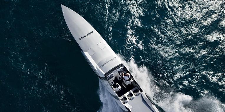 fasted speed boat ever $1.2 Million 1,350 HP Mercedes Benz SLS AMG Cigarette Boat