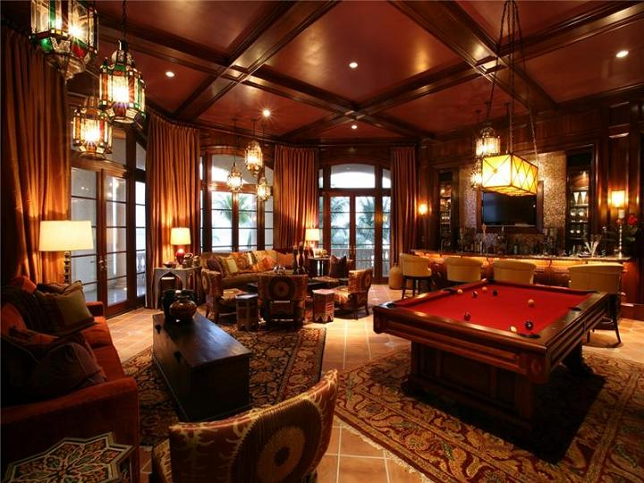 games room and bar The $60 Million Mansion on the Ocean: Castillo Caribe, Cayman Islands