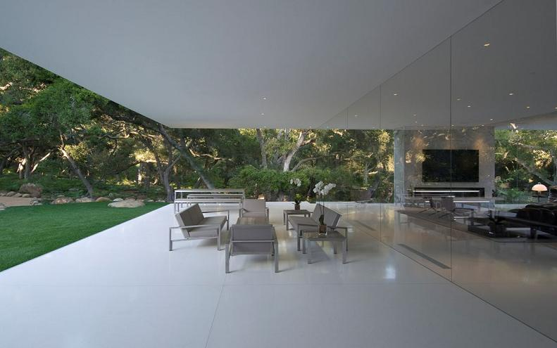 glass pavilion in california Mr. Hermanns Opus: The Glass Pavilion in Montecito, California