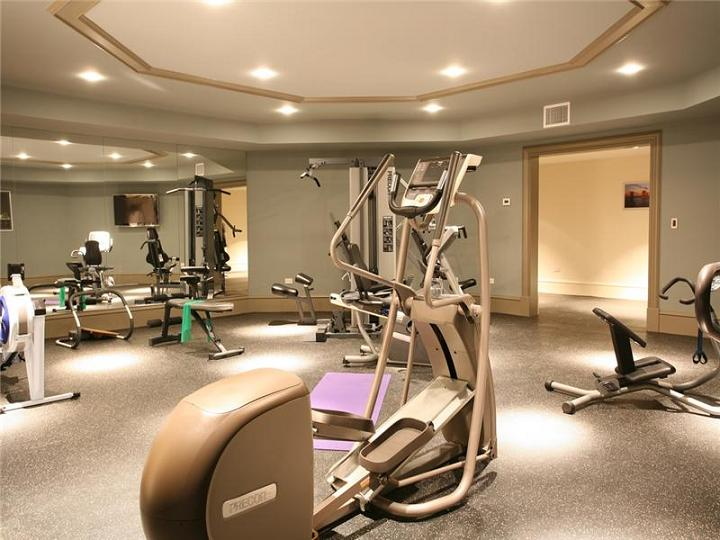 home exercise room The $60 Million Mansion on the Ocean: Castillo Caribe, Cayman Islands