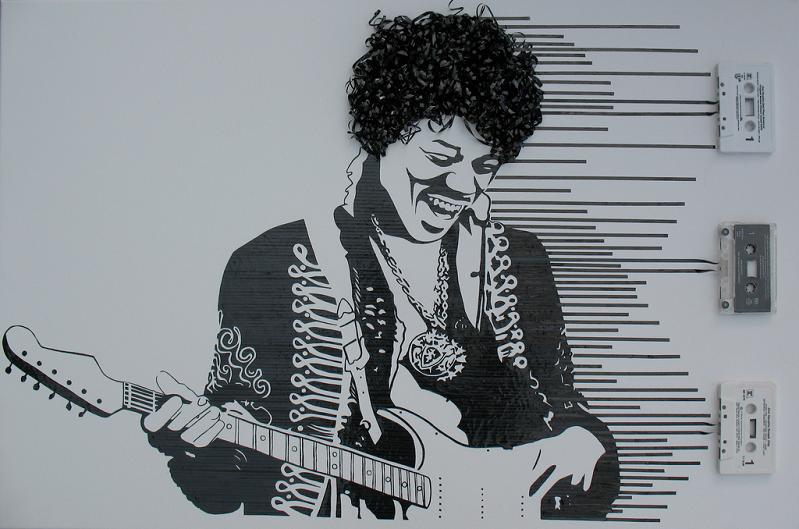 jimi hendrix experience casette tape art Brilliant Visual Recipes by IKEA [22 pics]