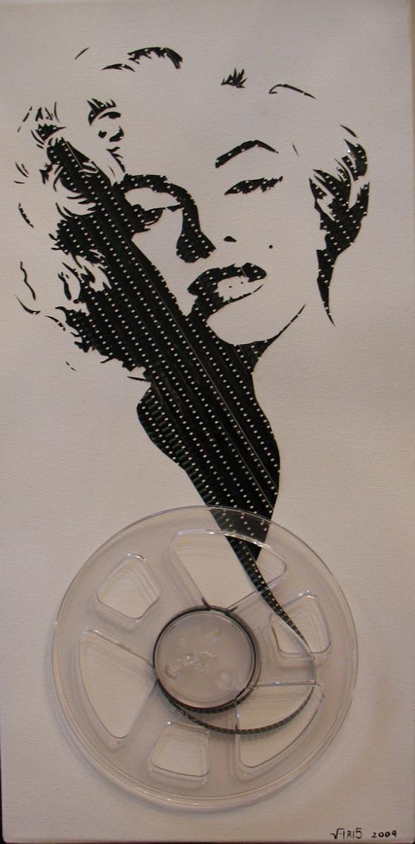 marilyn monroe film reel art iri5 Unbelievable Tape Art by Erika Iris Simmons [15 Pics]