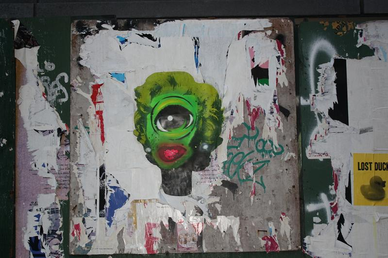 marilyn munroe eyeball street art nyc STREET ART: Eye Heart NYC by Peat Wollaeger [21 pics]