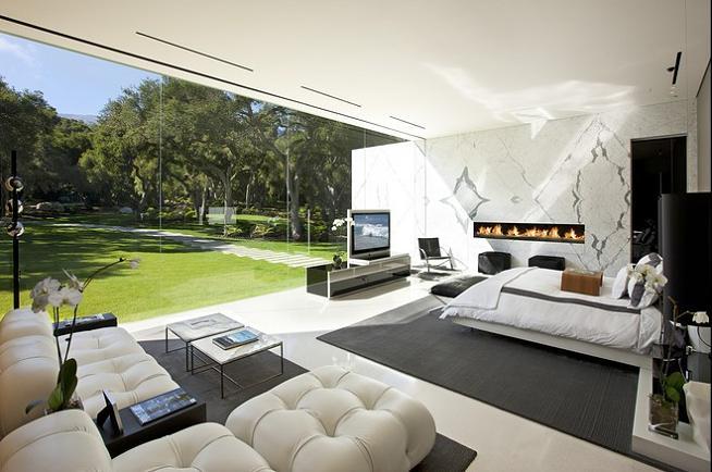master bedroom california Mr. Hermanns Opus: The Glass Pavilion in Montecito, California