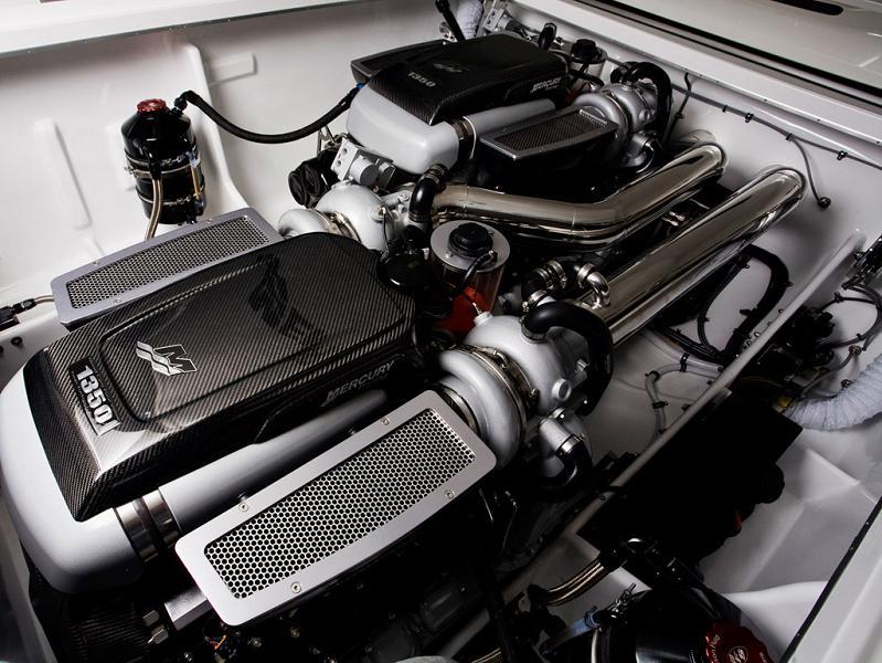 mercury racing engine $1.2 Million 1,350 HP Mercedes Benz SLS AMG Cigarette Boat