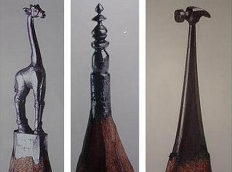 miniature sculptures using pencil lead The Most Incredible Miniature Pencil Art [20 pics]