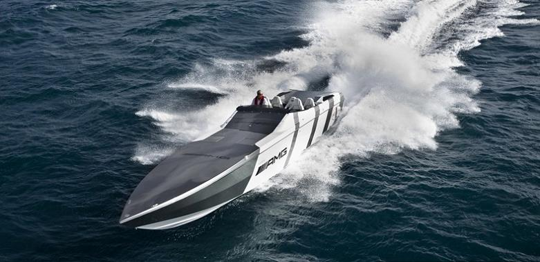 sls amg speed boat $1.2 Million 1,350 HP Mercedes Benz SLS AMG Cigarette Boat