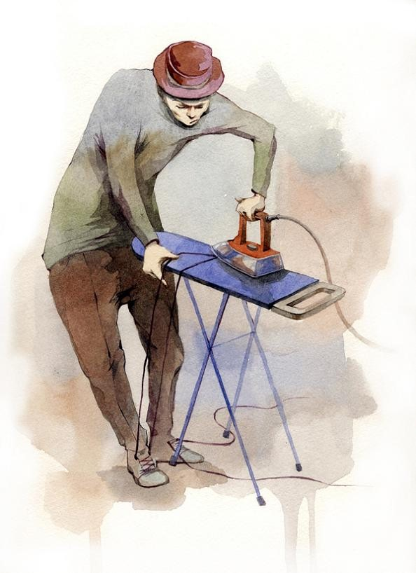 2 dmitriy rebus larin ironing laces water color The Incredible Watercolor Paintings of Dmitriy Rebus Larin