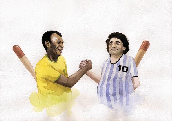 6 dmitriy rebus larin pele maradona The Incredible Watercolor Paintings of Dmitriy Rebus Larin
