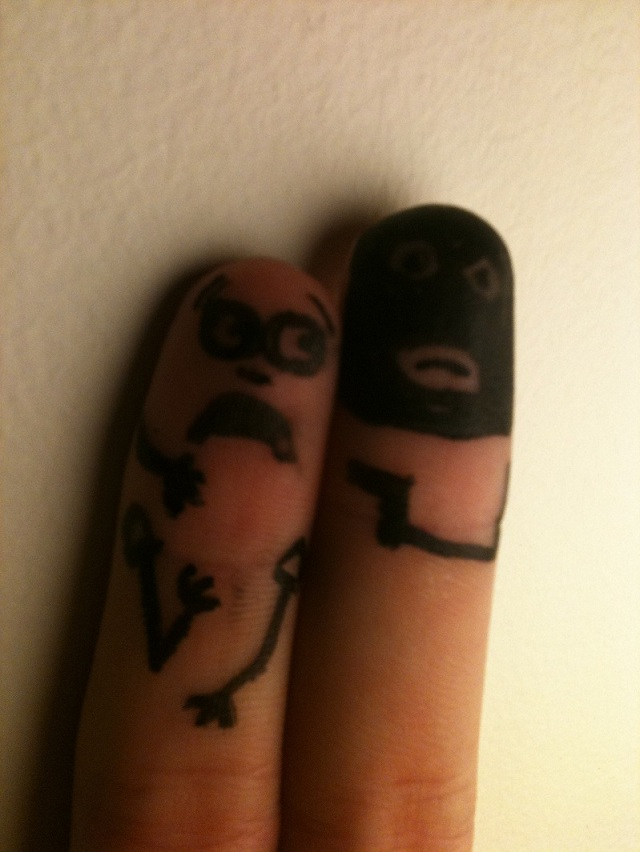 finger hostage Picture of the Day   September 19, 2010