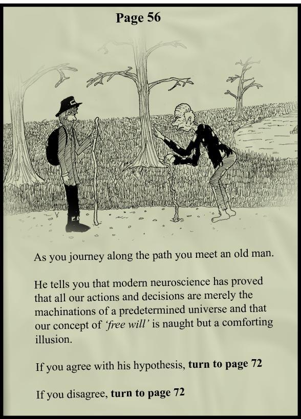 free will vs determinism comic Free Will [Comic Strip]