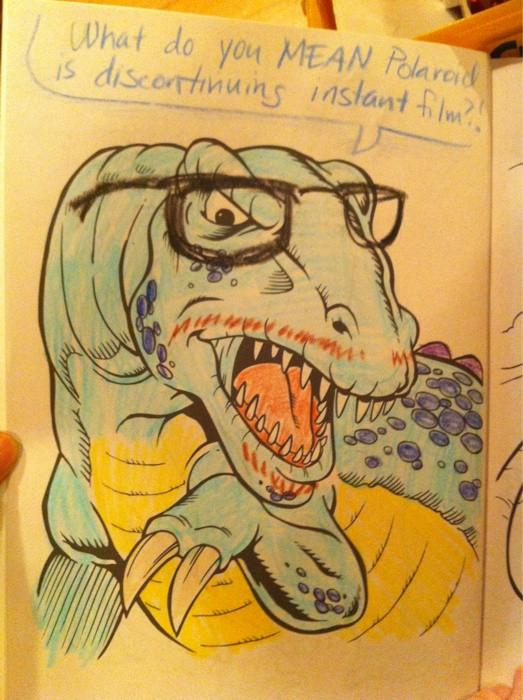 hipster dinosaur with glasses What if Cats, Dinosaurs and Super Heroes Were Hipsters?