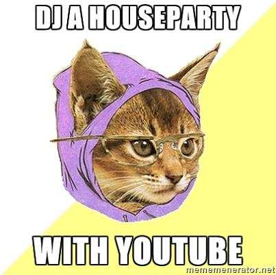 hipster kitty dj with youtube What if Cats, Dinosaurs and Super Heroes Were Hipsters?