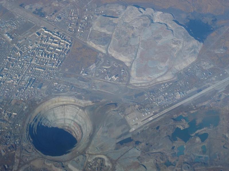 largest open diamond mine in the world mir mirny siberia The Largest Open Pit Diamond Mine in the World