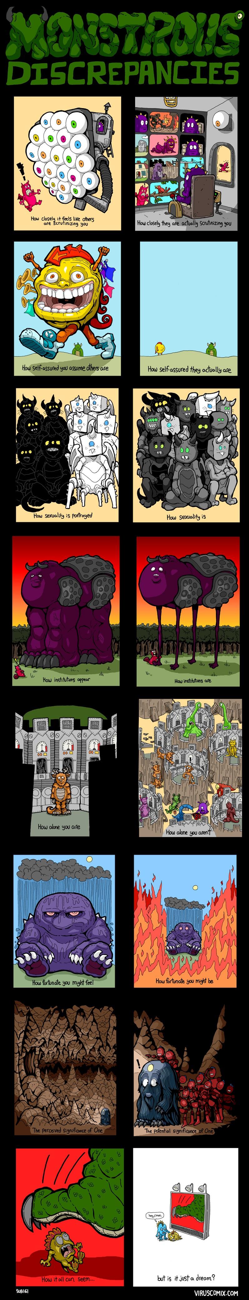 perception vs reality comic how it seems how it is Discrepancies [Comic Strip]