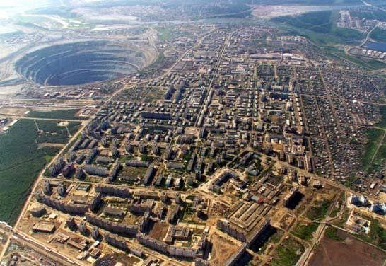 worlds largest diamond mine mirny mir siberia The Largest Open Pit Diamond Mine in the World