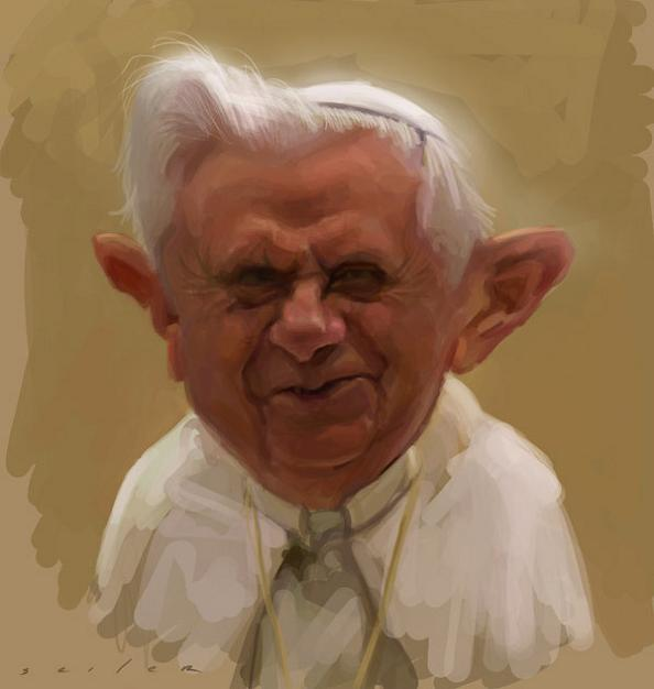13 pope caricature comic jason seiler 25 Incredible Drawings by Master Caricaturist Jason Seiler