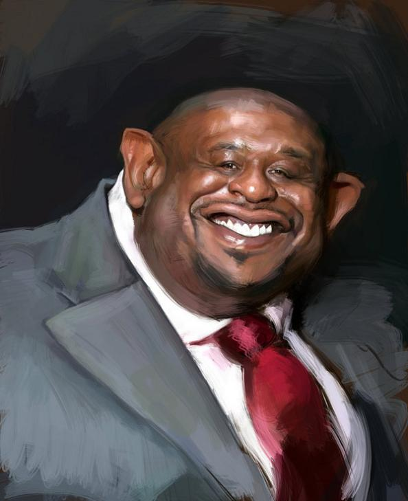21 forrest whitaker cartoon caricature 25 Incredible Drawings by Master Caricaturist Jason Seiler