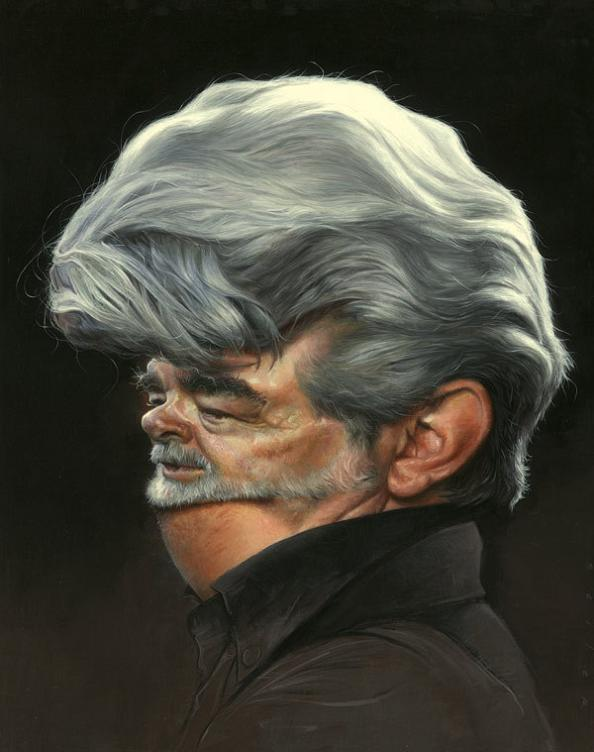 7 george lucas caricature jason seiler 25 Incredible Drawings by Master Caricaturist Jason Seiler