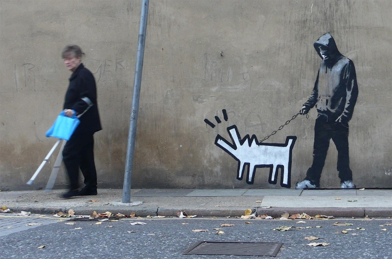 banksy keith haring stencil Picture of the Day: Harings Hound