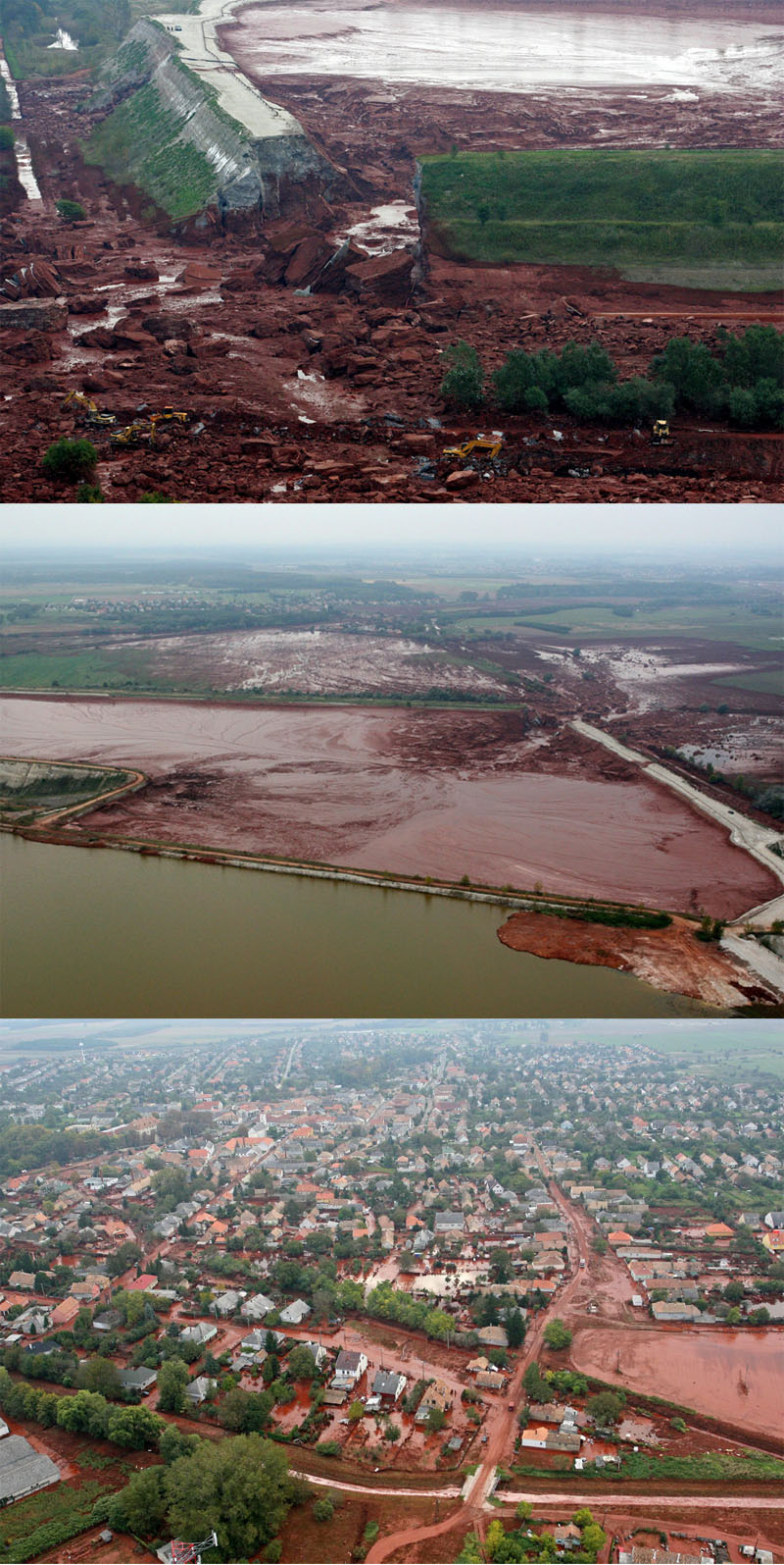 hungary toxic sludge landslide 2010 Picture of the Day   Red With Anger