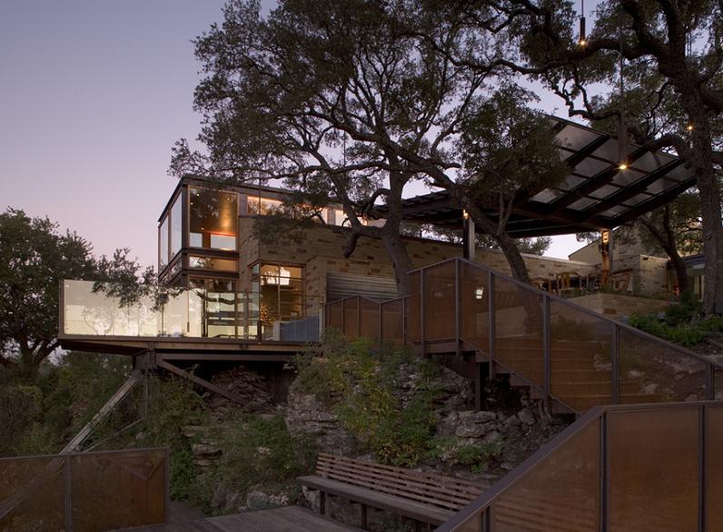 lake travis retreat texas cottage dick clark architecture The Peninsula Residence on Lake Austin by Bercy Chen Studio [25 pics]