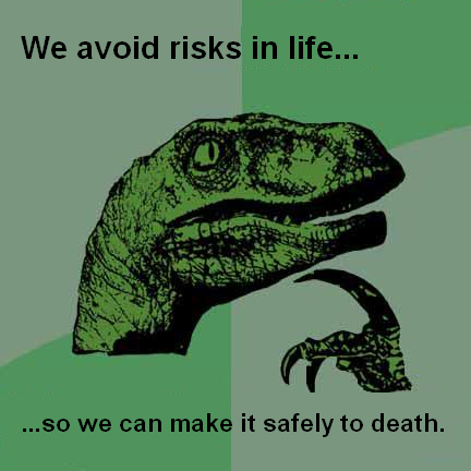philosoraptor avoid risks 20 Burning Questions with the Famous Philosoraptor