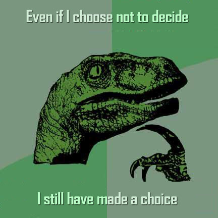 philosoraptor choose not to decide 20 Burning Questions with the Famous Philosoraptor