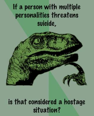 philosoraptor hostage 20 Burning Questions with the Famous Philosoraptor