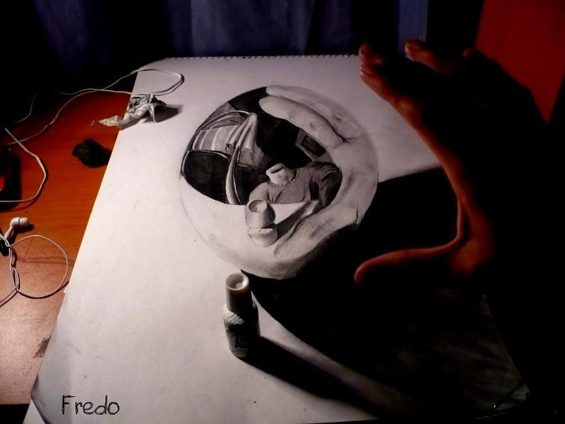 artist fredo 3d drawings illustrations art 10 Unbelievable 3D Drawings by 17 year old Fredo [25 pics]