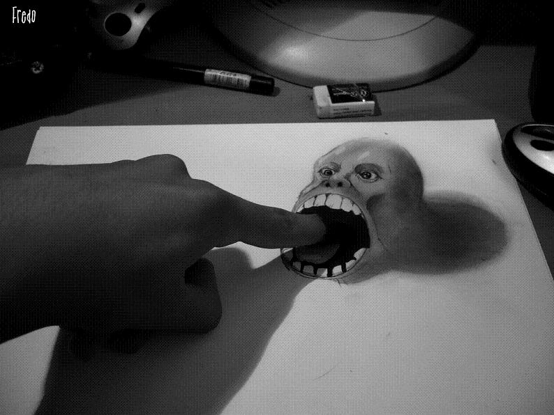 artist fredo 3d drawings illustrations art 14 Unbelievable 3D Drawings by 17 year old Fredo [25 pics]