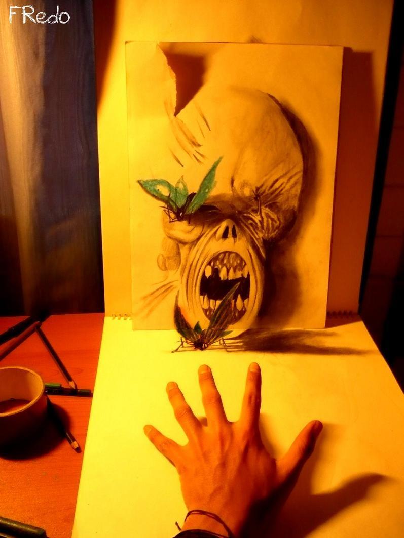 artist fredo 3d drawings illustrations art 2 Unbelievable 3D Drawings by 17 year old Fredo [25 pics]