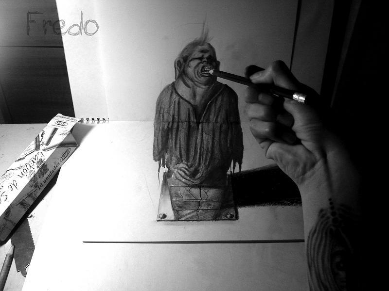 artist fredo 3d drawings illustrations art 24 Unbelievable 3D Drawings by 17 year old Fredo [25 pics]