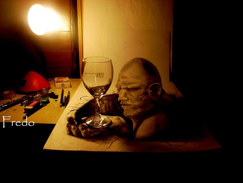 artist fredo 3d drawings illustrations art 5 Unbelievable 3D Drawings by 17 year old Fredo [25 pics]
