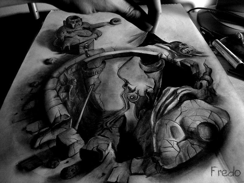 artist fredo 3d drawings illustrations art 8 Unbelievable 3D Drawings by 17 year old Fredo [25 pics]