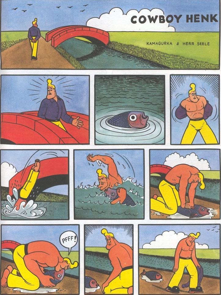cowboy henk tries to save a fish Rescue Fail [Comic Strip]