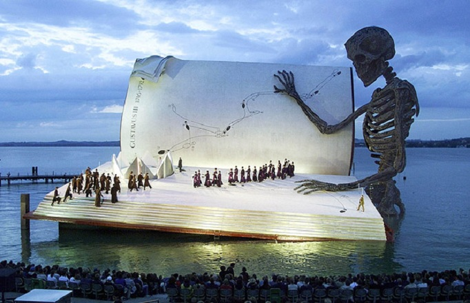 floating giant book stage bergenz festival Picture of the Day: Coolest. Stage. Ever.