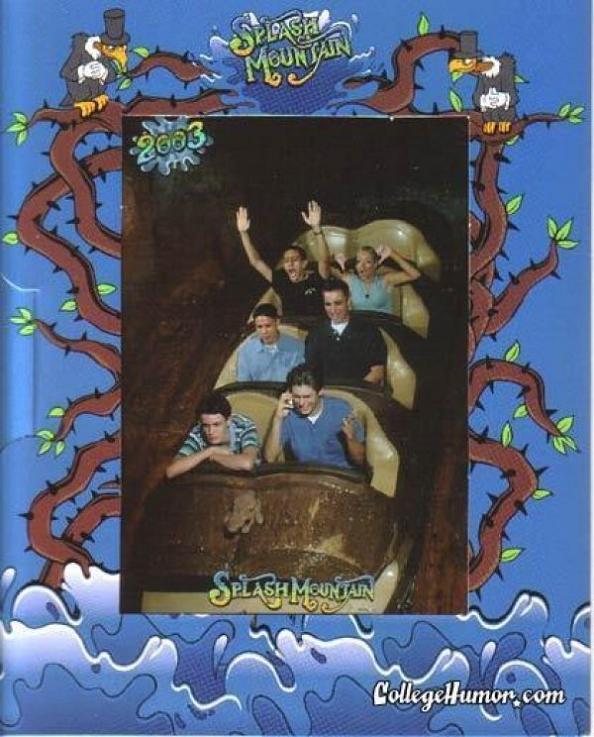 funny splash mountain cell phone 21 Hilarious Pics from Disney Worlds Splash Mountain